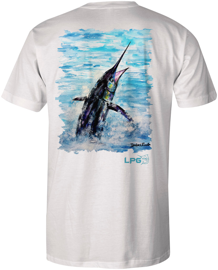 LPG Apparel Co. Pacific Fly Marlin T-Shirt - Lobo Performance Gear