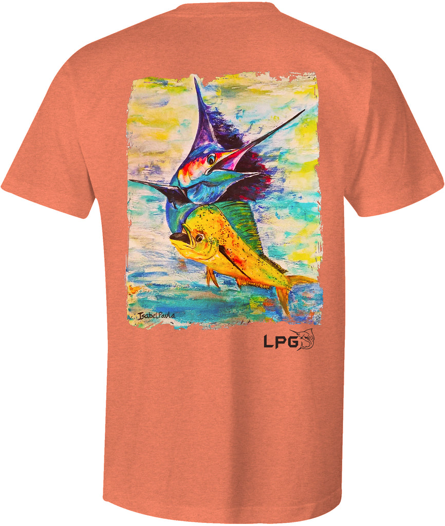 LPG Apparel Co. Sailfish Mahi Billfish Combo Unisex Fishing  T-shirt - Lobo Performance Gear