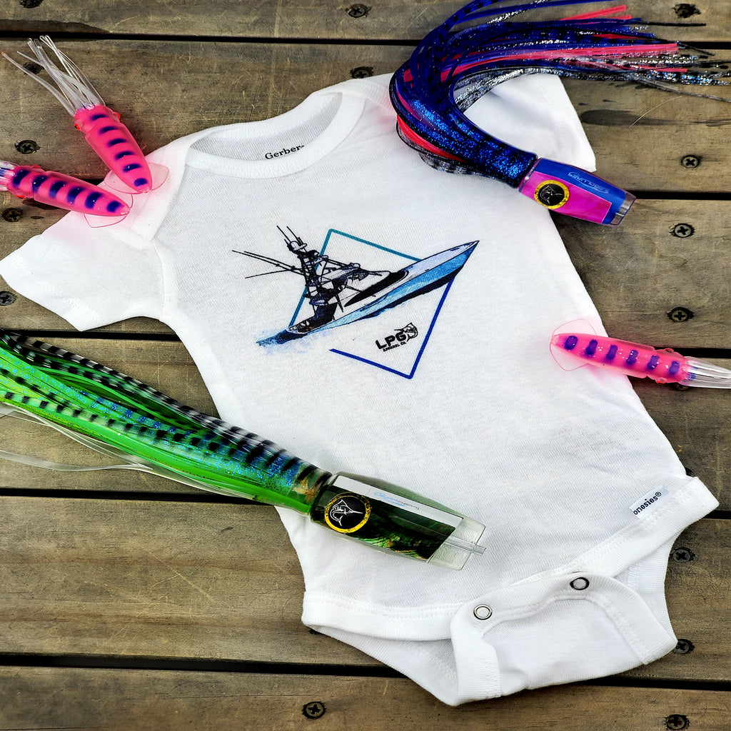LPG Apparel Co. Diamond Sportfishing Boat Baby Onesie® - Lobo Performance Gear