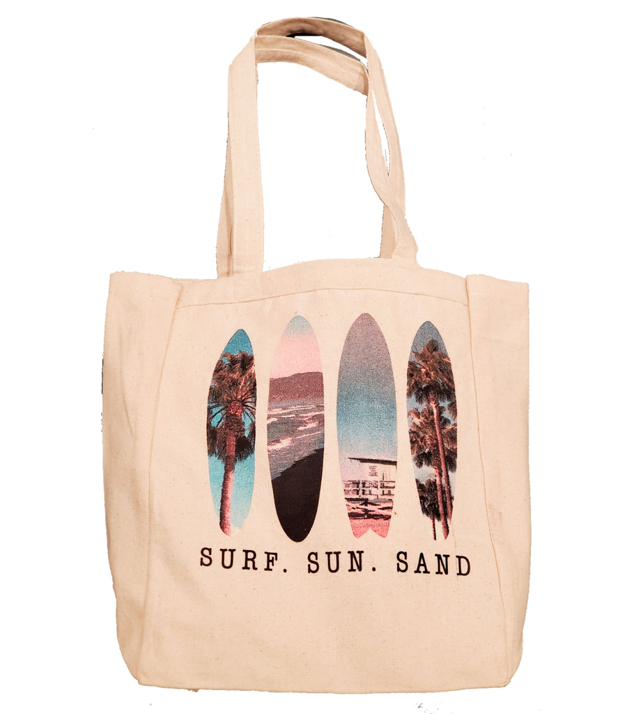LPG Apparel Co. SURF. SUN. SAND Tropic Surfboards Canvas Beach Tote - Lobo Performance Gear