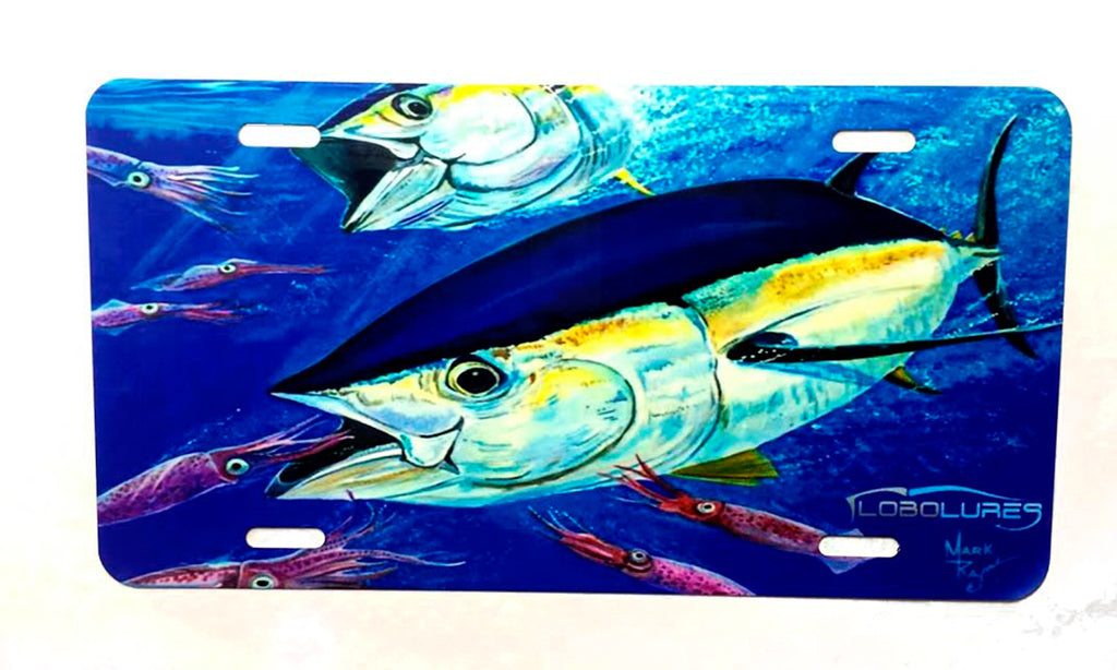 LPG Apparel Co. Mark Ray Tuna Art Metal Vehicle License Plate - Lobo Performance Gear