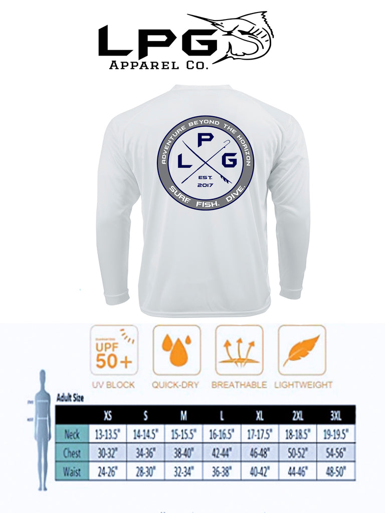 LPG Apparel Co. Americano Patriotic Marlin Edition LS Performance UPF 50 Shirt - Lobo Performance Gear