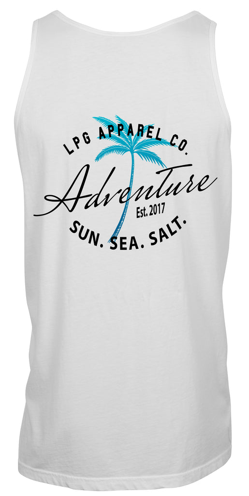 LPG Apparel Co. Adventure Palms Sun. Sea. Salt. Surf Unisex Tank Top - Lobo Performance Gear