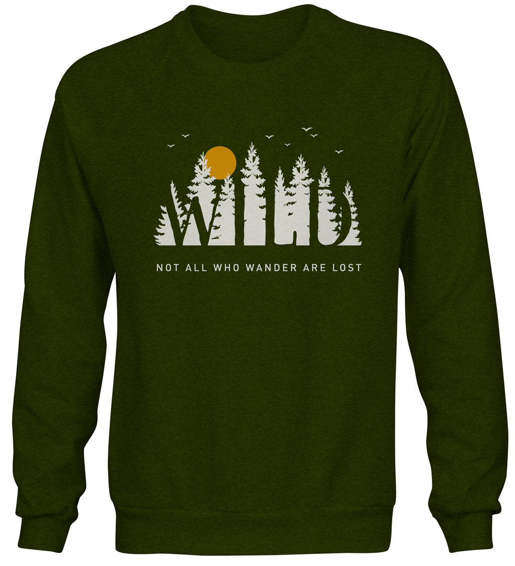 LPG Apparel Co. WILD Forrest Crew Neck Sweater - Lobo Performance Gear