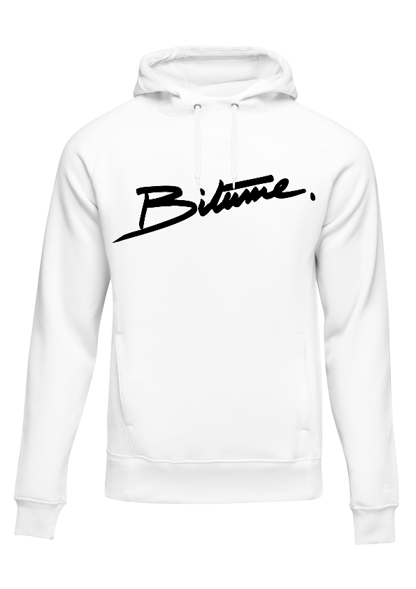 Sweat Shirt 100 % Bitume SIGNATURE BIG blanc personnalisable.