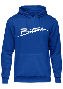 Sweat Shirt 100 % Bitume SIGNATURE BIG bleu personnalisable.