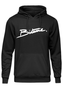Sweat Shirt 100 % Bitume SIGNATURE BIG noir personnalisable.
