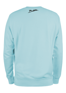 "Sweat Shirt 100 % Bitume "" Candy Blue Pastel "" personnalisable."