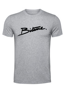T Shirt 100 % Bitume SIGNATURE BIG gris personnalisable.