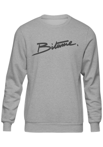 "Pull Over 100 % Bitume "" Velour gris clair ""."