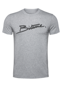 "T Shirt 100 % Bitume "" Velour gris clair """