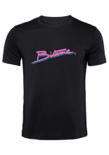 "Charger l'image dans la galerie, T Shirt 100 % Bitume SIGNATURE BIG "" Miami Heat "" noir personnalisable."