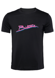 "T Shirt 100 % Bitume SIGNATURE BIG "" Miami Heat "" noir personnalisable."