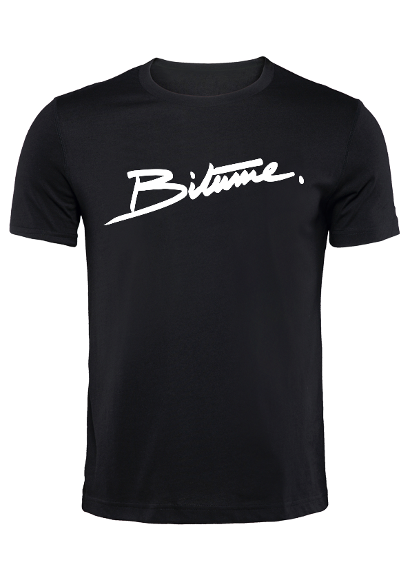T Shirt 100 % Bitume SIGNATURE BIG noir personnalisable.
