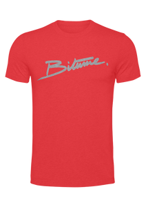 "T Shirt 100 % Bitume "" Velour rouge """