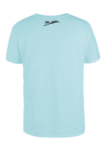 T Shirt 100 % Bitume Candy Blue Pastel personnalisable.