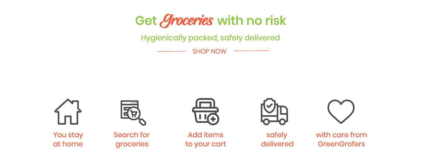 GreenGrofers, contactless delivery, zero contact, stay safe