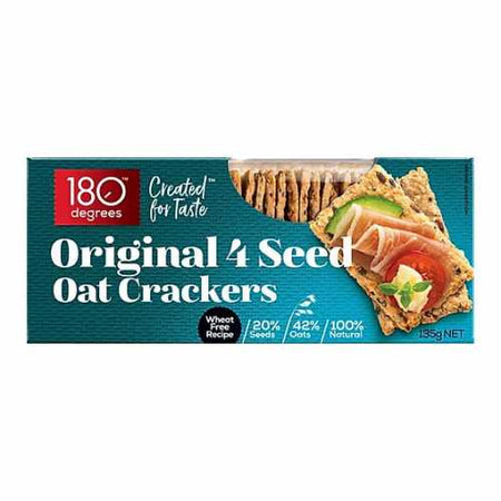 180 Degrees - 4 Seed Oat Crackers Original 135g