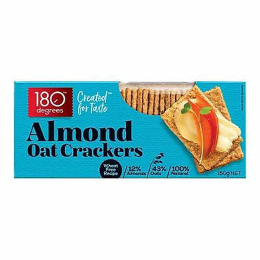 Almond oat crackers