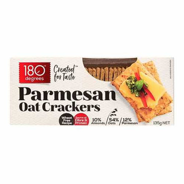 180 Degrees Parmesan Oat Crackers 135g