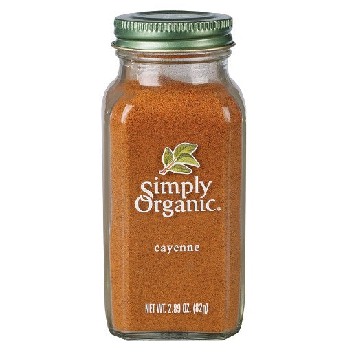 Simply Organic Cayenne Pepper Large Glass  (82g)