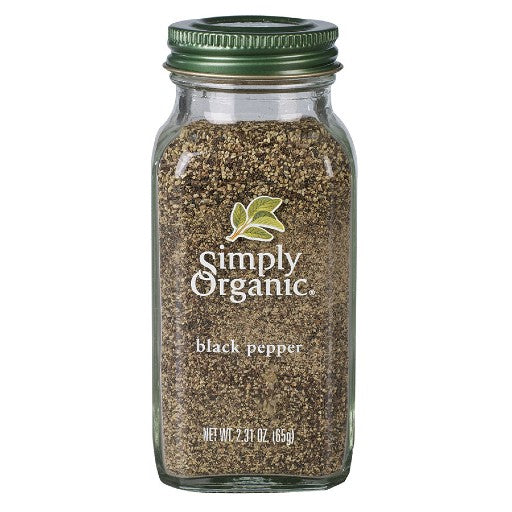 Simply Organic Black Pepper Medium Grind Large Glass (65g)