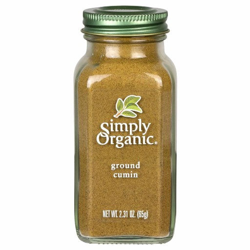 Simply Organic Ground Cumin Large Glass  (65g)