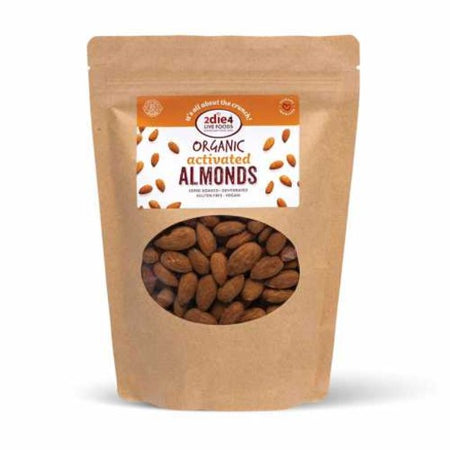 2die4 Live Foods Organic Activated Almonds (300g)