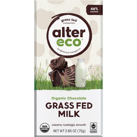 ALTER ECO Grass Fed Milk 46% Cocoa 75g