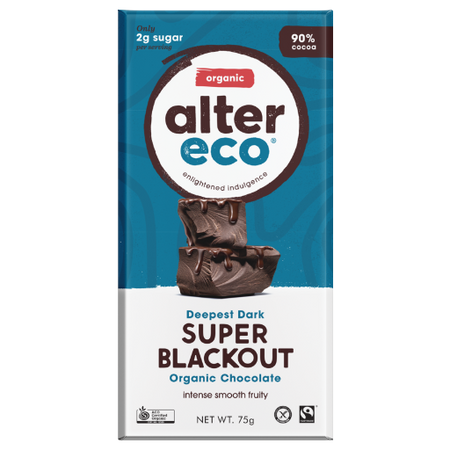 ALTER ECO Organic Deepest Dark Super Blackout 90% Cocoa 75g