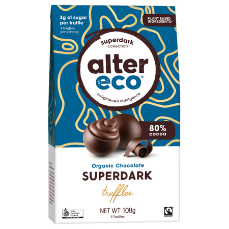 ALTER ECO Super Dark Vegan Truffles 80% Cocoa - 180g