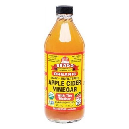 Bragg Organic Apple Cider Vinegar Unfiltered & Contains The Mother (473ml)