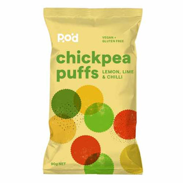Pangkarra Chickpea Puffs - Lemon Lime Chilli (90g)