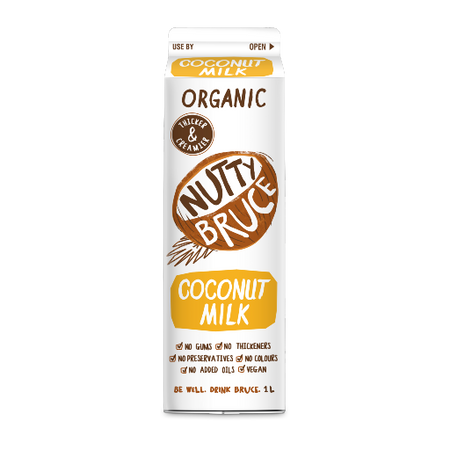 Nutty Bruce Organic Coconut Milk 1L