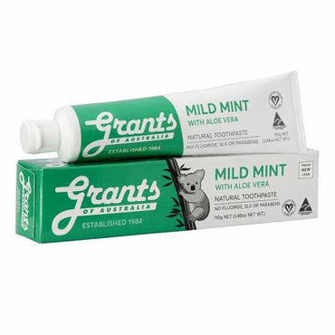 Grants Mild Mint Toothpaste With Aloe Vera (110g)