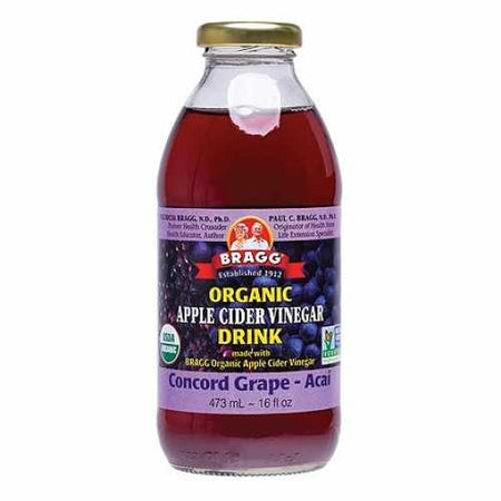 Bragg Organic Apple Cider Vinegar Drink with Grape and Acai (473ml)