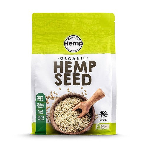 Essential Hemp Organic Hemp Seeds Hulled (1kg)