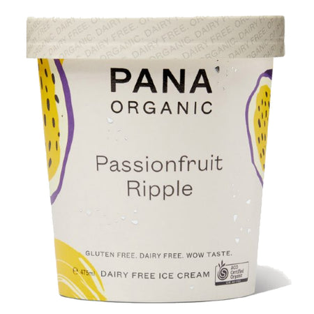 Pana Passionfruit Ripple Dairy Free Ice Cream