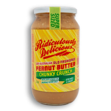 Ridiculously Delicious Chunky Crunch Peanut Butter 1Kg