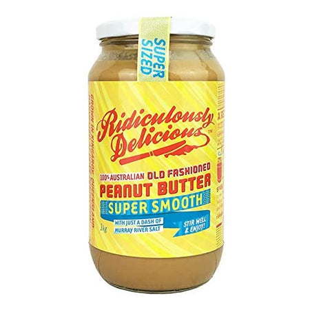 Ridiculously Delicious Super Smooth Peanut Butter 1Kg