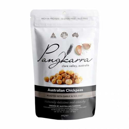 Pangkarra Roasted Chickpeas, Garlic and Sea Salt 200g