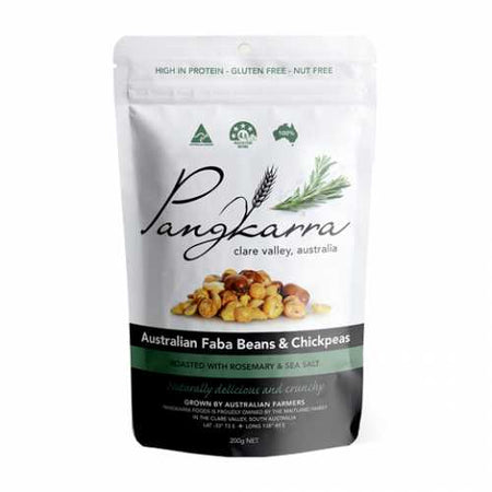 Pangkarra Roasted Chickpeas and Faba Beans, Rosemary Sea Salt 200g