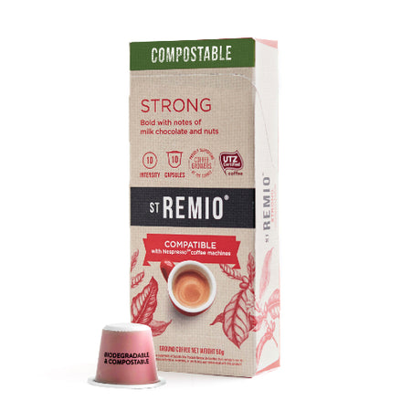St Remio STRONG Nespresso®* Compostable Compatible Capsules