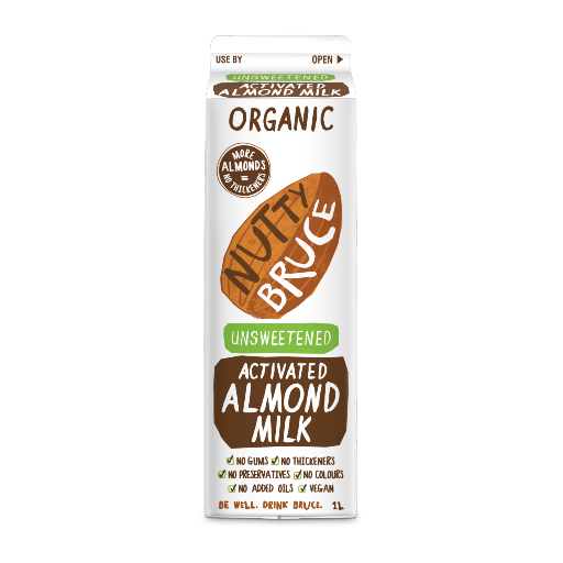 Nutty Bruce Organic Unsweetened Activated Almond Milk 1L