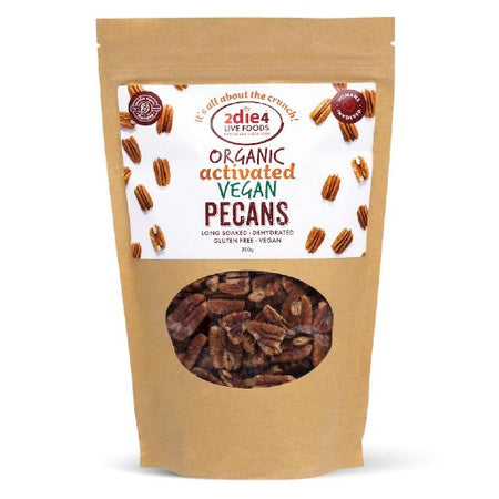 2die4 Live Foods Organic Activated Pecans Vegan (300g)