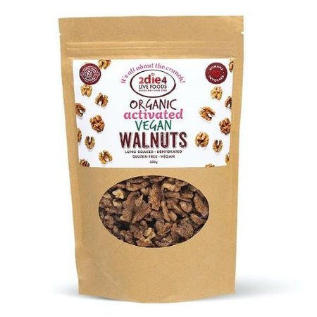 2die4 Live Foods Organic Activated Vegan Walnuts (300g)