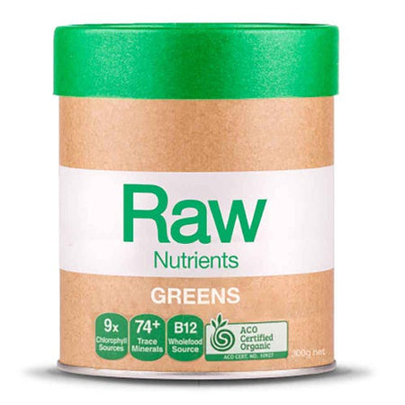 Amazonia Raw Prebiotic Greens - Mint & Vanilla (300g)