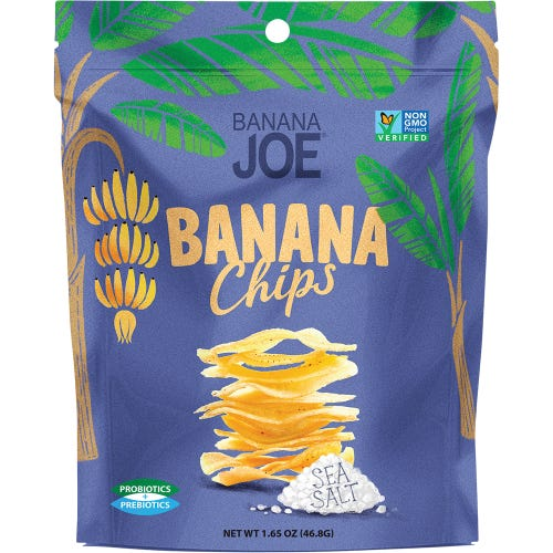 BANANA JOE Banana Chips Sea Salt (46.8g)