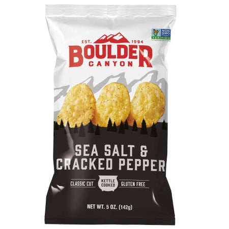 Sea Salt & Cracked Pepper Chips (142g)