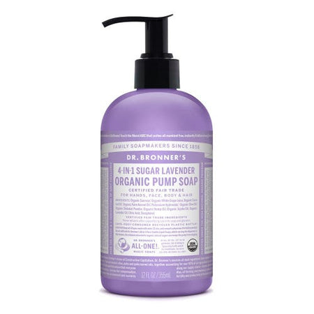Dr Bronner's 4 in 1 Organic Pump Soap - Lavender (355ml)